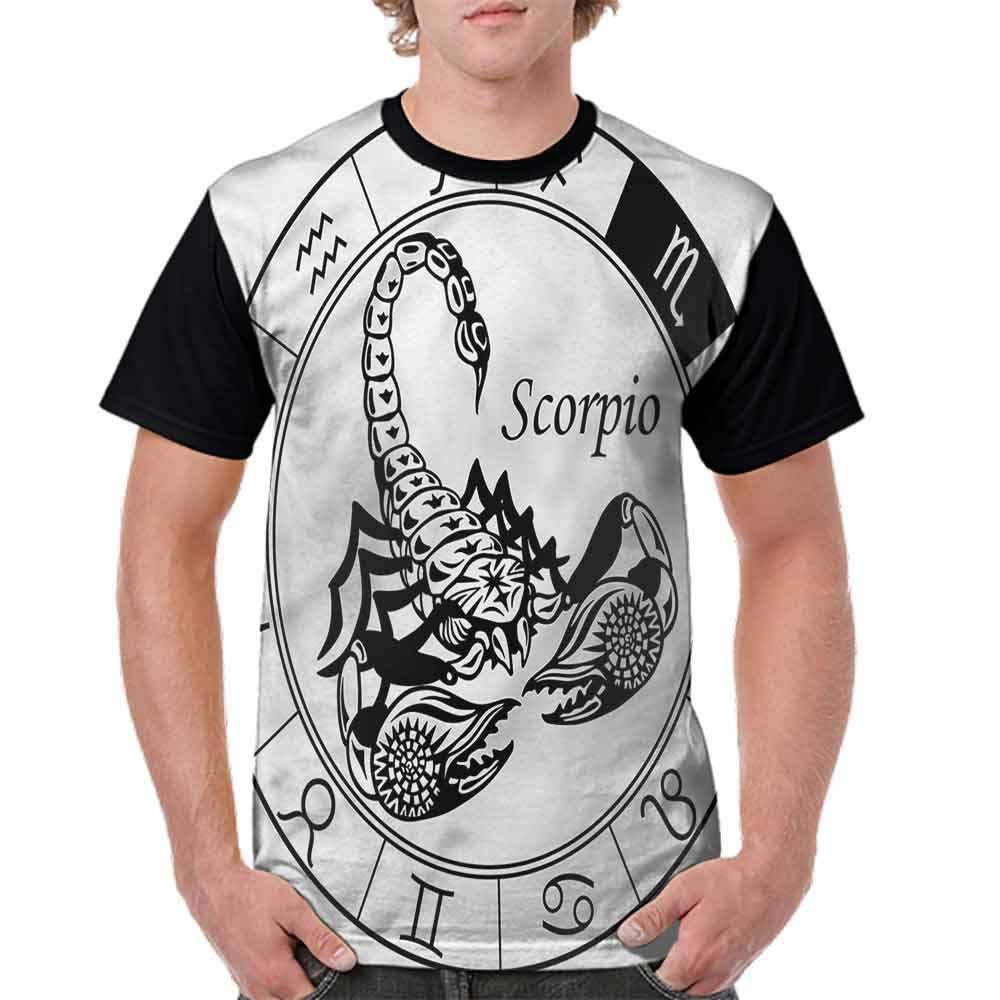 BlountDecor Round Neck T-Shirt,Astrology Pisces Sign Fashion Personality Customization