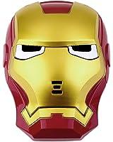LED Light Eye Iron Man Face Mask Fancy Dress Masquerade Costume Halloween