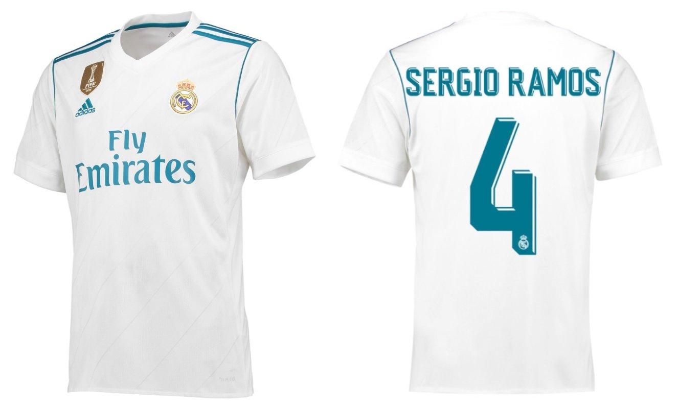 Real Madrid Trikot Kinder 2017-2018 Home WC - Sergio Ramos 4