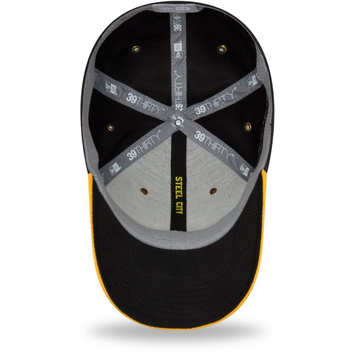 New Era 2018 39Thirty NFL Pittsburgh Steelers Sideline Home Hat Cap ... f38d33f2f