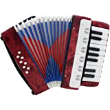ammoon Mini Pequeño 17-Key 8 Bajo Acordeón El Juguete Educativo del Instrumento Musical para Niños Amateur Principiante Regalo de Navidad