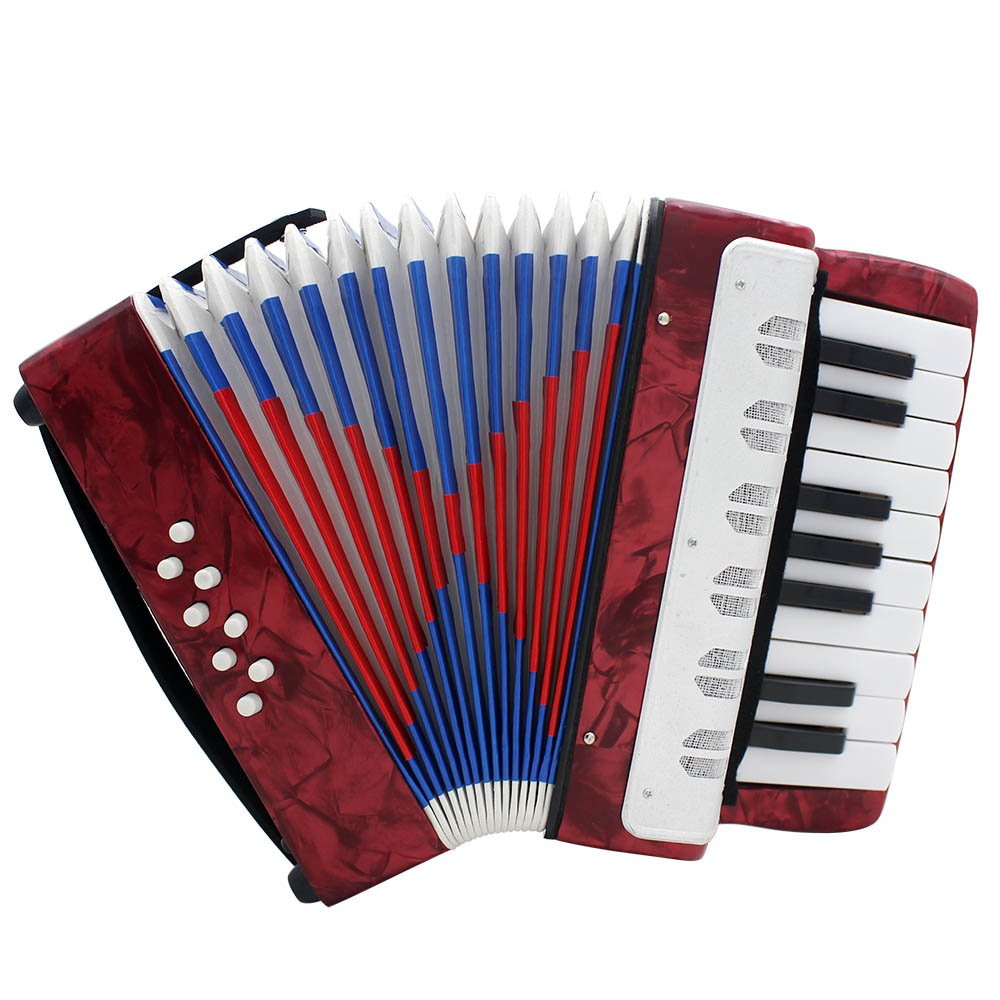 Andoer Mini Small 17-Key 8 Bass Accordion Educational Musical Instrument Toy for Kids Children Amateur Beginner Christmas Gift 4334322534