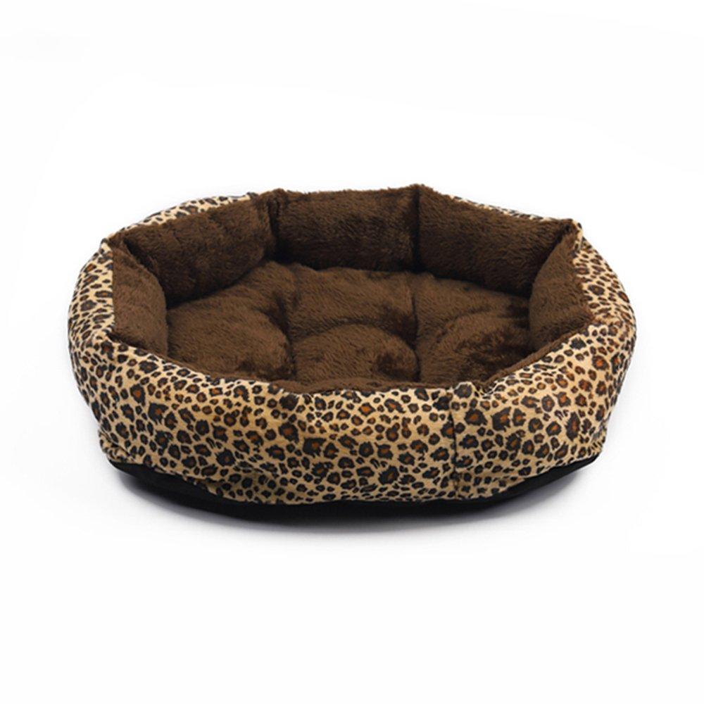 1 L 58×49×14cm 1 L 58×49×14cm colorful Leopard Print Dog Cave Bed Pet Cat Bed for Pet Cat and Dog Bed,001,L 58×49×14Cm