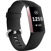GEAK Bransoletka kompatybilna z Fitbit Charge 3/Fitbit Charge 4, regulowana klasyczna zapasowa bransoletka do Fitbit…