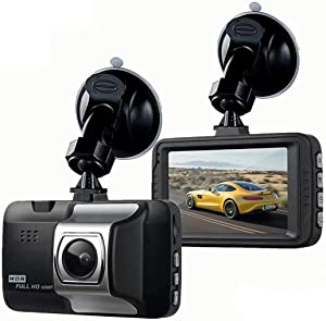 "Car HD Dash Cam 3"" LCD FHD 1080p Night Vision 170° Wide Angle Dashboard Camera Recorder with G-Sensor, WDR, Loop Recording"