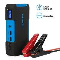 SUPERPOW Batería Arrancador de Coche 800A, Jump Starter Batería de Emergencia Portátil con Arranque Kit, LED, USB Puertos (Puede Alimentar el Coche hasta 5.2L de Diesel o 6.5L de Gasolina)