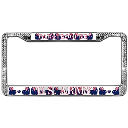 Amazon.com: GND License Plate Frames Cars Paratrooper US Army Bling ...