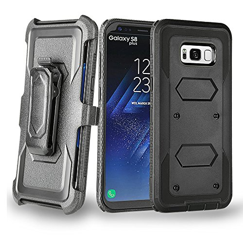 Galaxy S8 Plus Case, Beimu Armor Full body Heavy Duty Protection Kickstand Shockproof Absorption Premium Hybrid Reduction / Bumper Case WITHOUT Screen Protector Case for Samsung Galaxy S8+ Plus