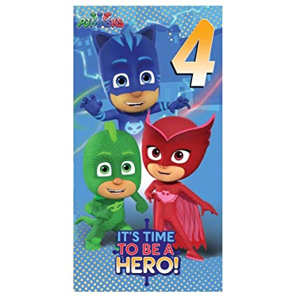 PJ Masks 4th Birthday Card