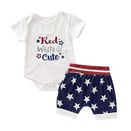 a802c5e2c80a4 Amazon.com : Luonita Newborn Infant Baby Boys July 4th American Flag ...