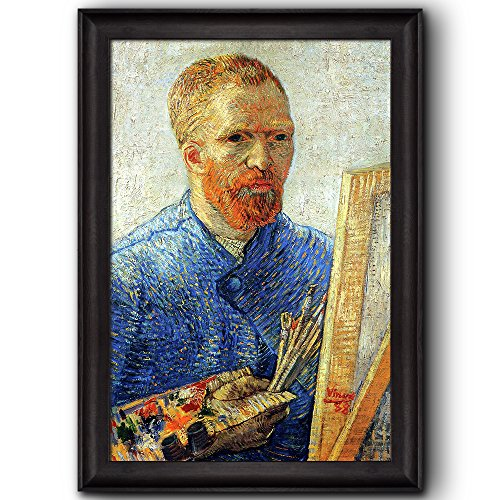 Self Portrait in Front of the Easel by Vincent Van Gogh Oil Painting Impressionist Artist Framed Art
