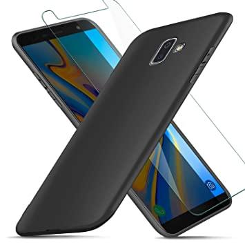 AROYI Funda Samsung Galaxy J6 Plus + Protector de Pantalla, Carcasa Samsung Galaxy J6 Plus Silicona Ultra Suave TPU Anti-Golpes Flexible Cover Case ...