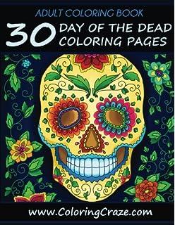 adult coloring book 30 day of the dead coloring pages dia de los muertos