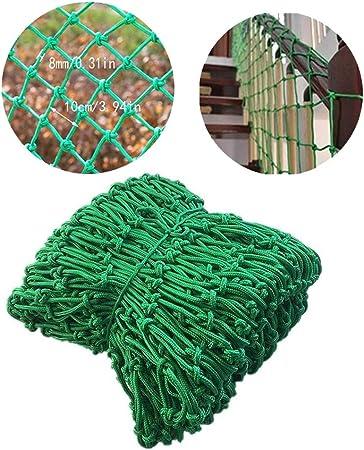 Balcón Red De Protección Infantil, Seguridad De Escalera Protección Contra Caídas De Carga Jardín Planta Escalada Red De Celosía Decoración Malla Malla Reemplazo Red De Cuerda, Verde, Personalizado: Amazon.es: Hogar