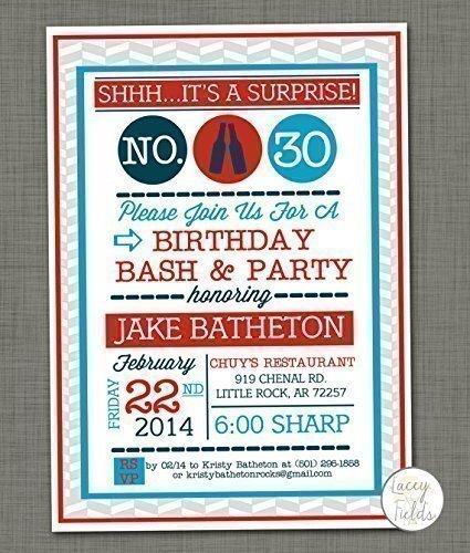 Amazon surprise birthday party invitation for adults set of 10 surprise birthday party invitation for adults set of 10 surprise party invte filmwisefo