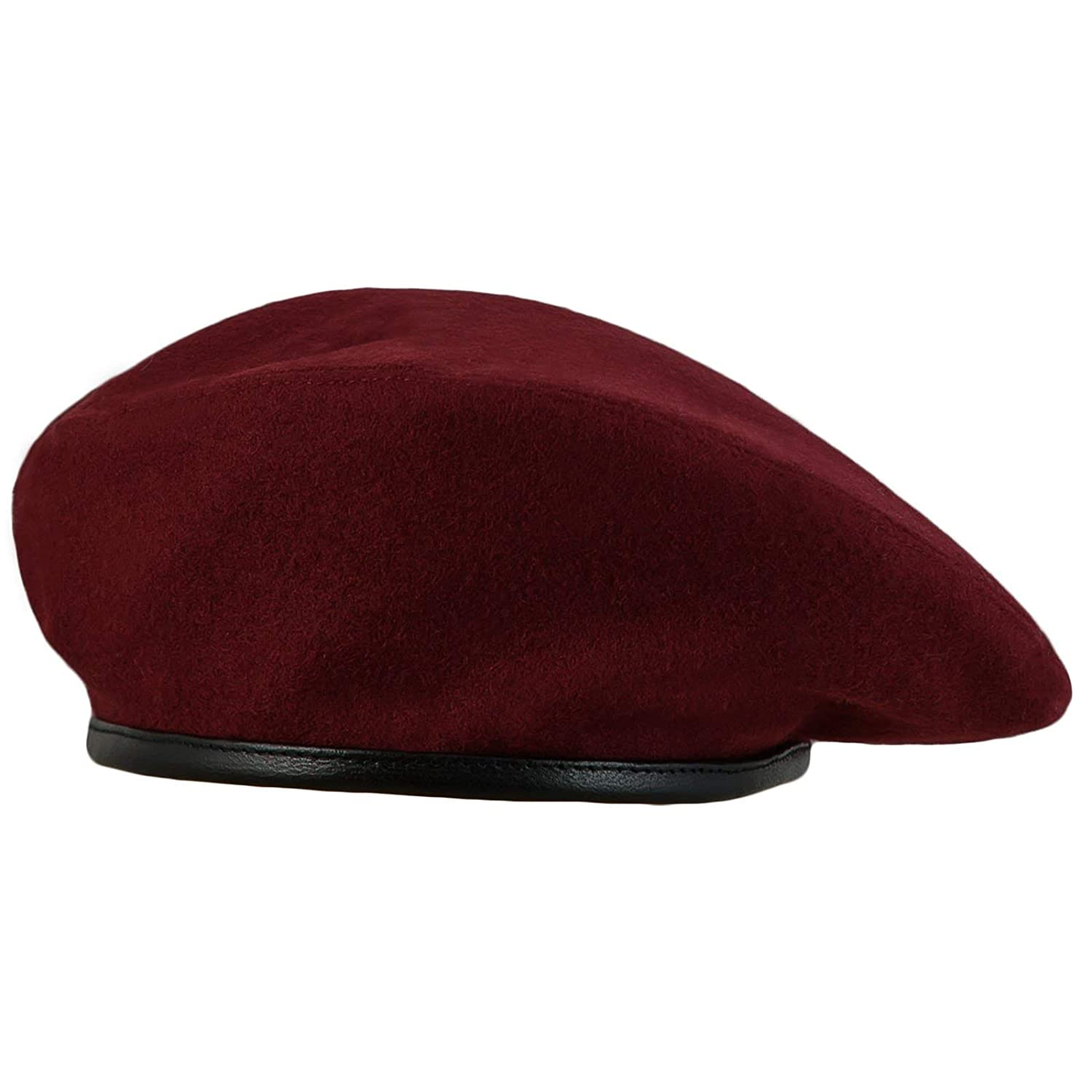Berret Size 7½ NEW Burgundy Wool Military Style Beret