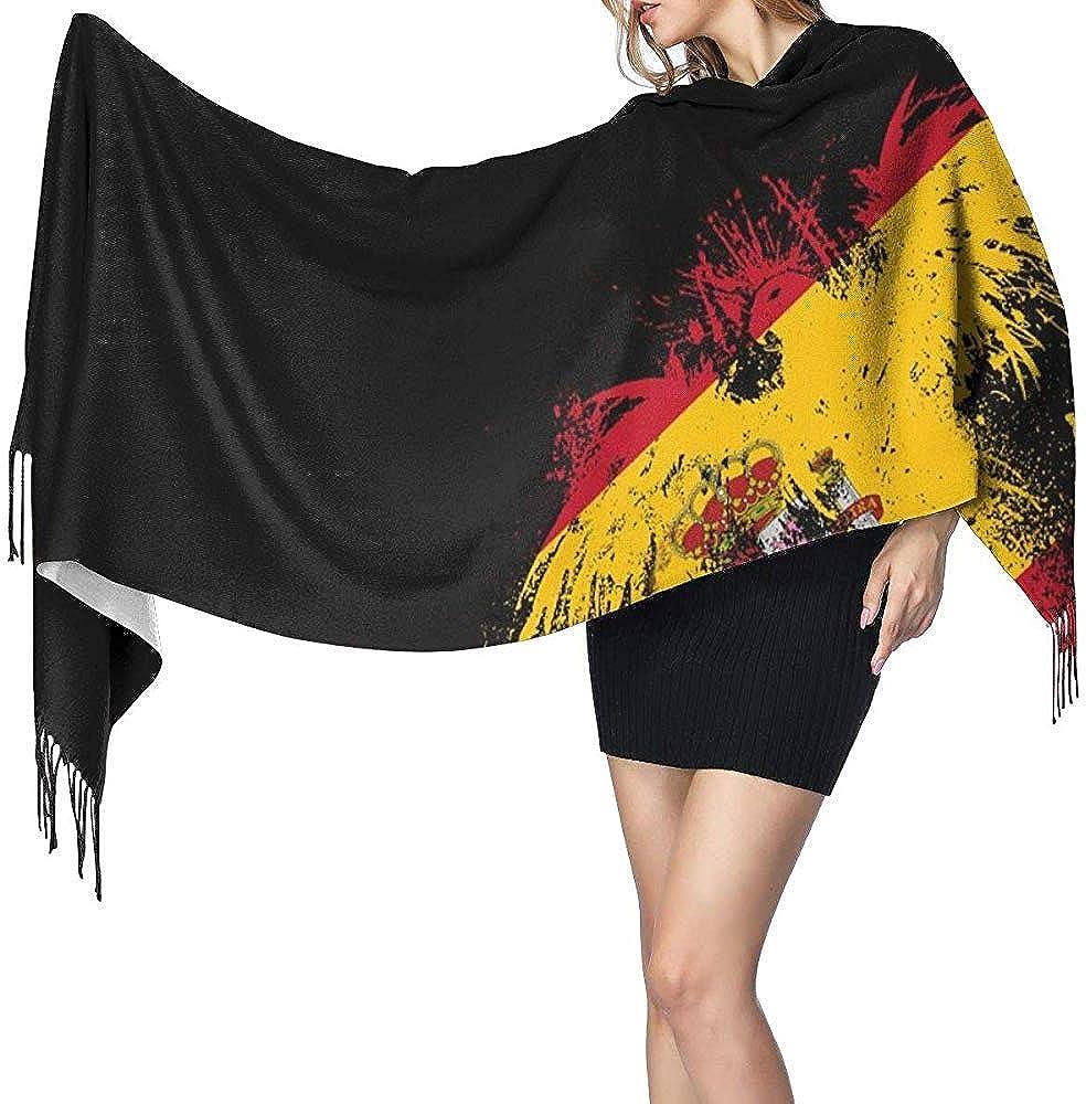 Bufanda larga para mujer, diseño de la bandera de España, águila, cachemira cálida, ligera para el otoño: Amazon.es: Ropa y accesorios