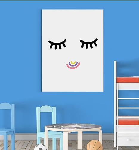 Inspired Walls Cute Cils Smile Couleurs Chambre d\'enfant ...