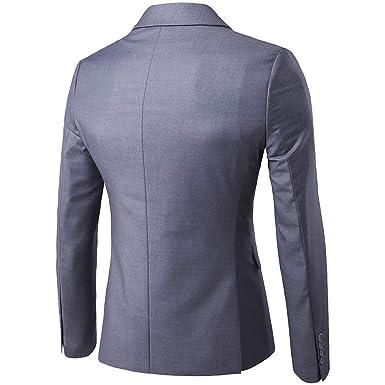 Rera Homme Costume 3 pièces Veste+Gilet+Pantalon Décontracté Formel Slim  Fit d affaire Occasionnels Mariage Business Blazer Unie Boutons Elégant  Classique  ... d5a1bd877b7