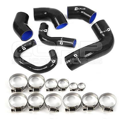 Amazon.com: Turbo Intercooler Silicone Hose Piping Kit Clamps For Mitsubishi Lancer Mr Evo 7 8 9 Ct9a 4g63 Black: Automotive
