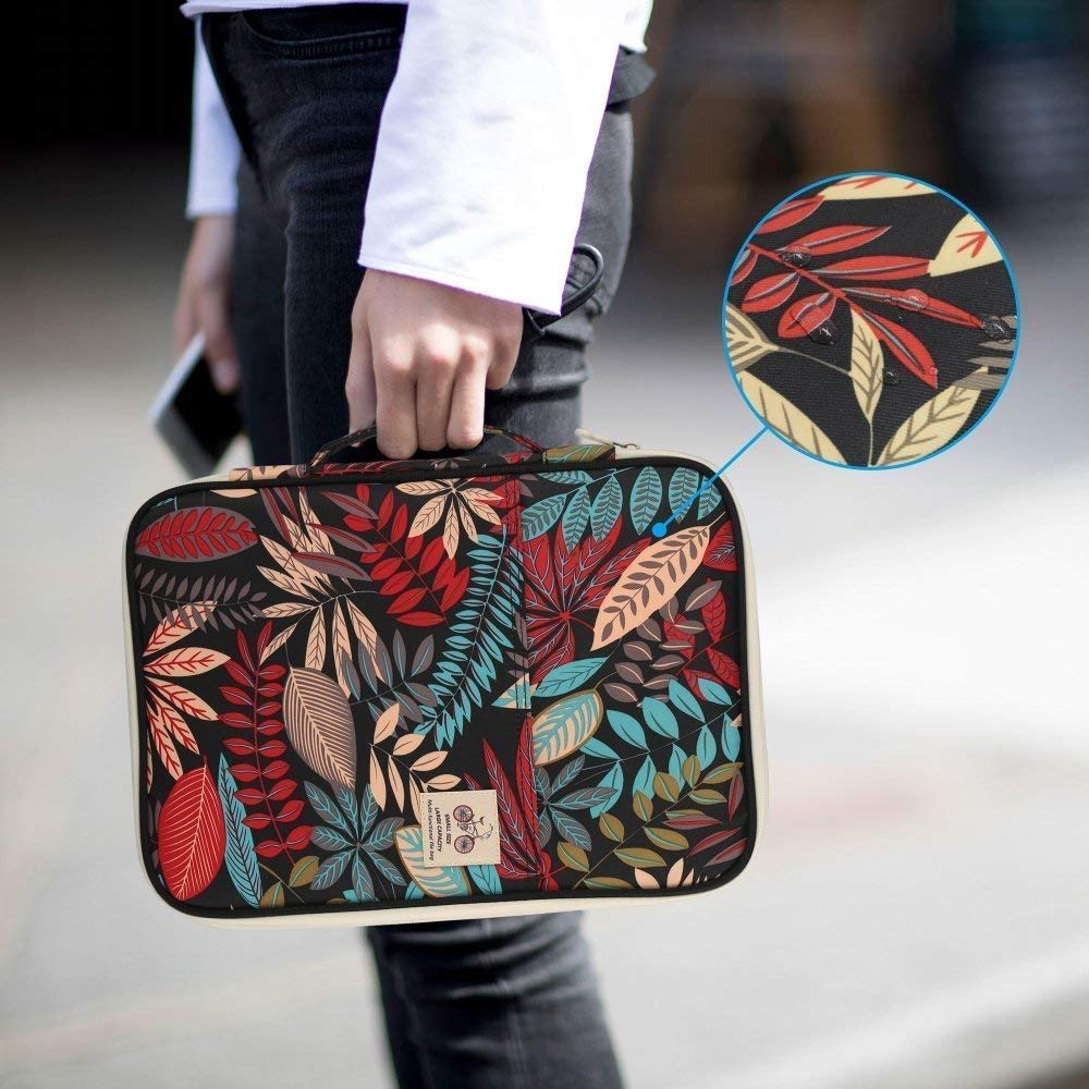 Jungle JAKAGO Multi Function Travel Portfolio Waterproof Business File Holder Organizer for Passport /& Fire HD 7/& Samsung Galaxy Tab /& Business Cards with Zippered Closure