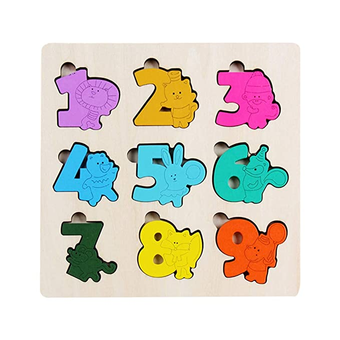 Amazon.com: AMOFINY Baby Toys Animal Traffic Wooden Jigsaw ...