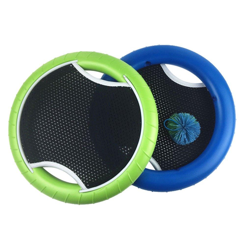 VORCOOL MEZO Disc Juego Bounce parte con banda de goma de cí rculos Ball para niñ os adultos (2 unidades Raqueta y 1 pelota unidades)