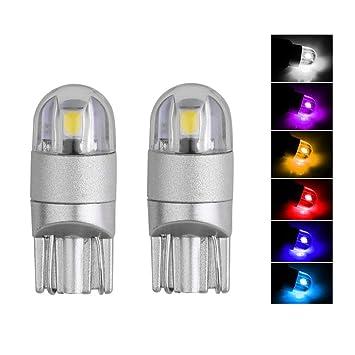 Naisidier - Bombilla LED T10 de Repuesto para Coche, 6 Unidades, superestable y Brillante