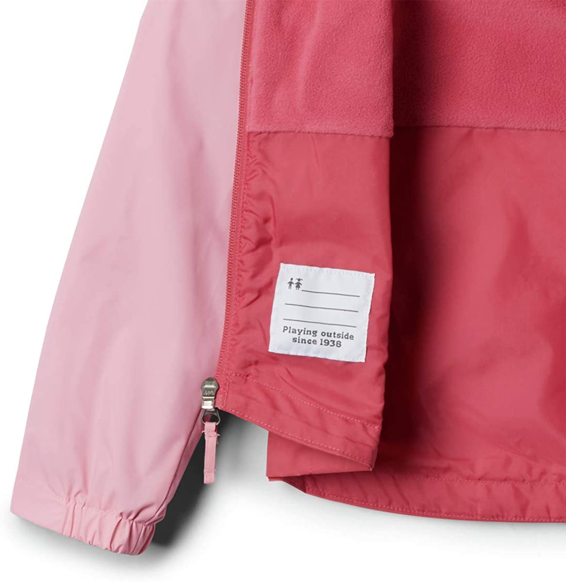 Reflective Columbia Girls Rain-Zilla Jacket Waterproof