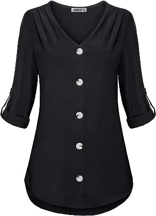 MOQIVGI Womens Criss Cross V Neck Short Sleeve Tie Dye Pleated Swing Tunic Dress Shirt