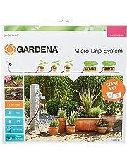 GARDENA startset voor bloempotten M automatic: De praktische Micro-Drip-systeem startset met bewateringscomputer voor 7 potplanten en 3 plantenbakken (13002-20)