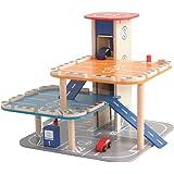 roba Parkhaus, Parkgarage aus Holz mit Lift & Tankstelle (für Hot Wheels geeignet)