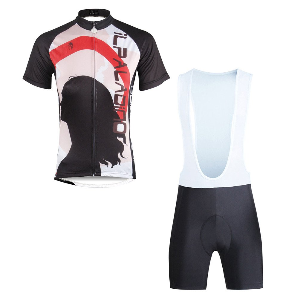 Paladinsport Women Portrait Pattern White Short Sleeve Cycling Clothes