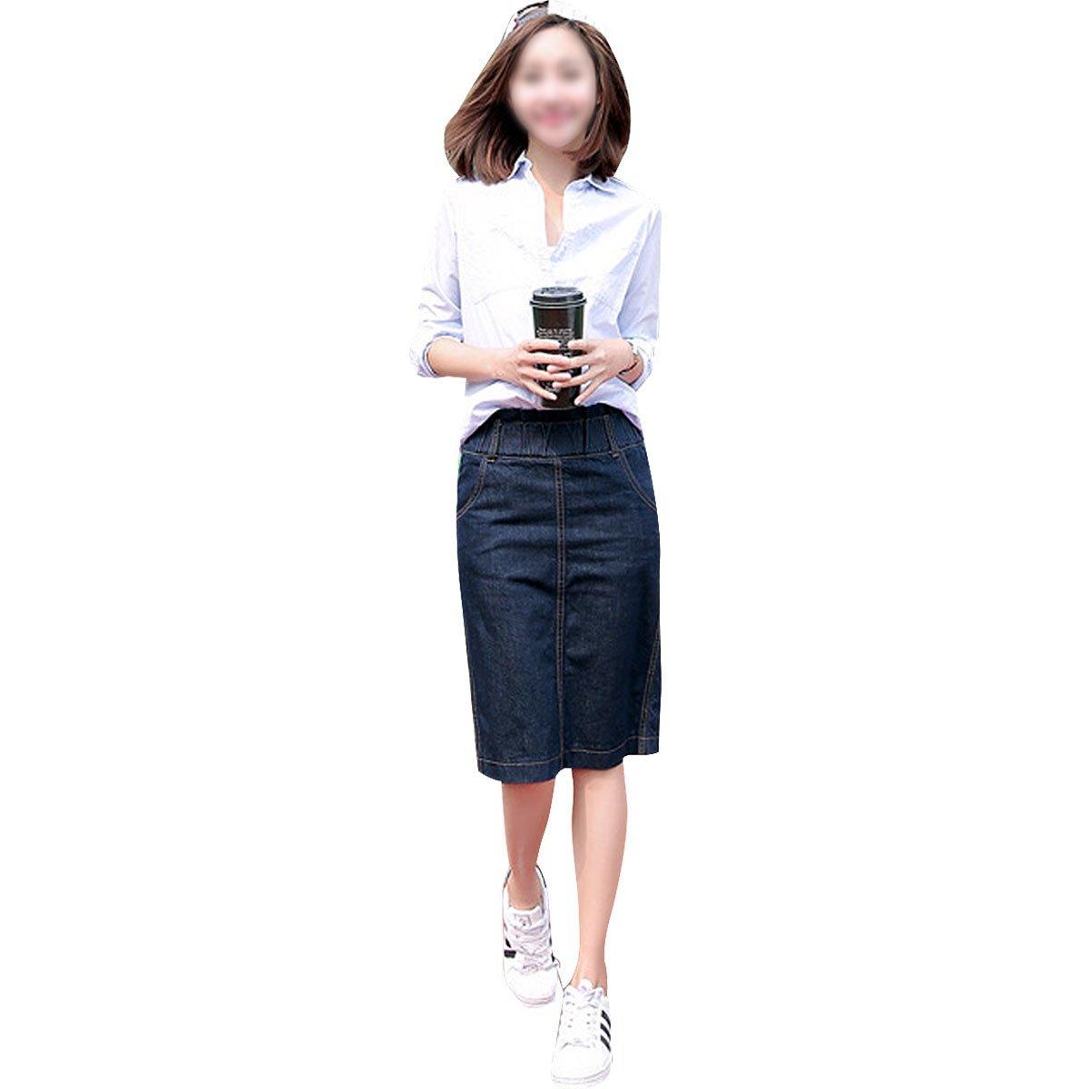 3e1ba8ccfb Knee Length Jean Skirts For Sale