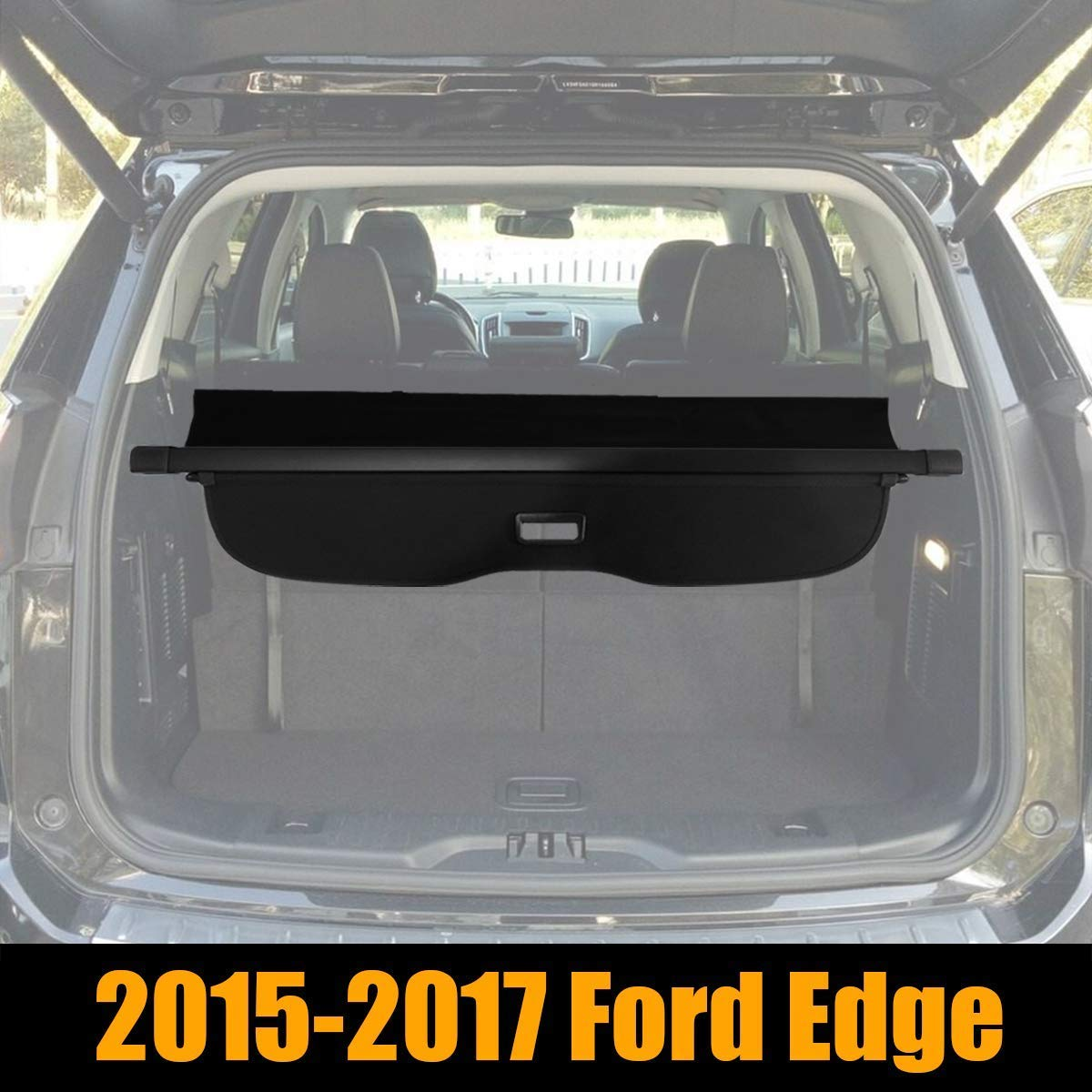Retractable Cargo Cover Fits 2015-2017 Ford Edge Trunk Shielding Shade Cargo Luggage Cover