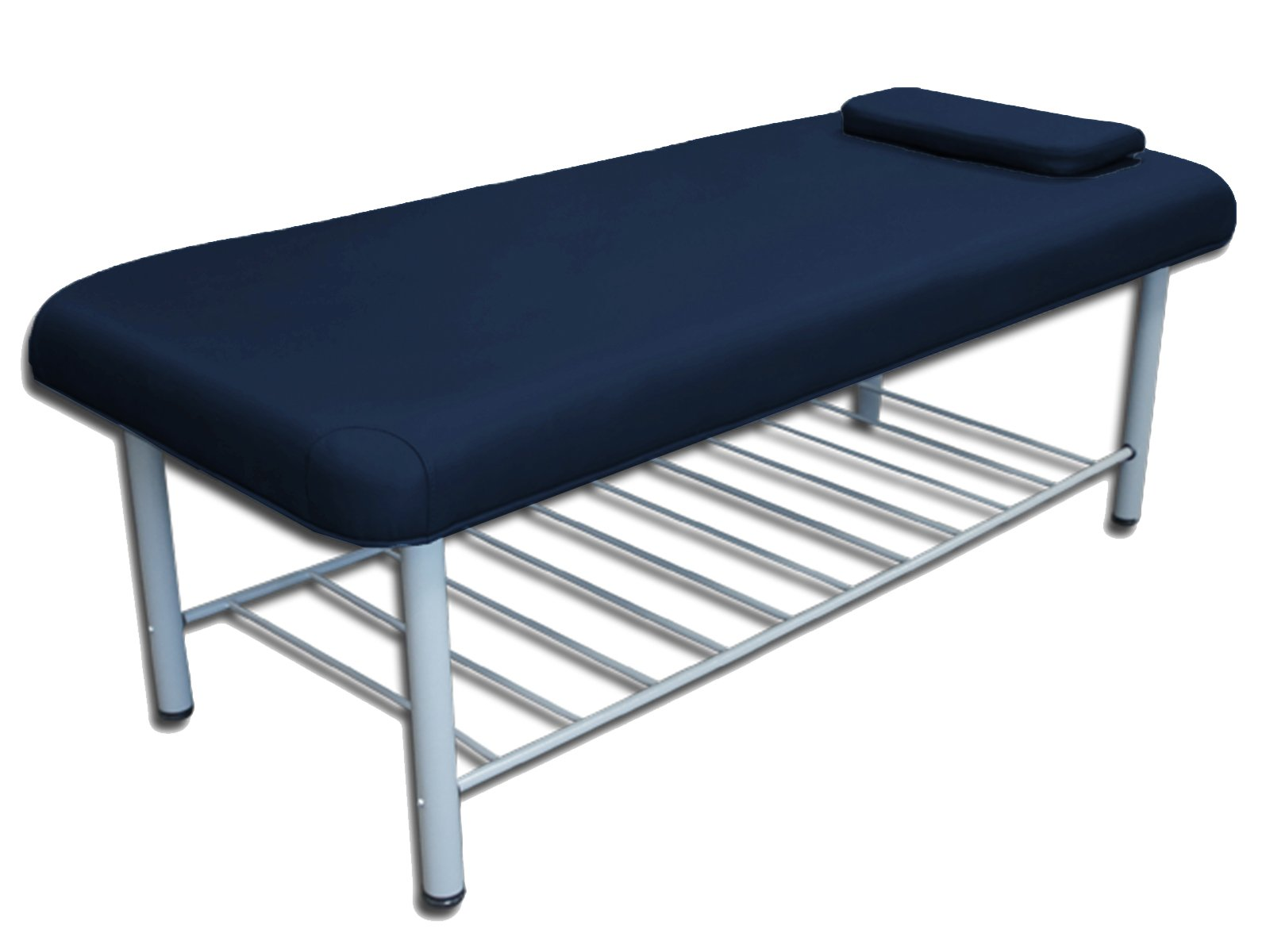 TOA Professional Metal Framed Stationary Spa Massage Table Bed w/ Tray Rack (1 Blue Table) by TOA Supply (Image #1)