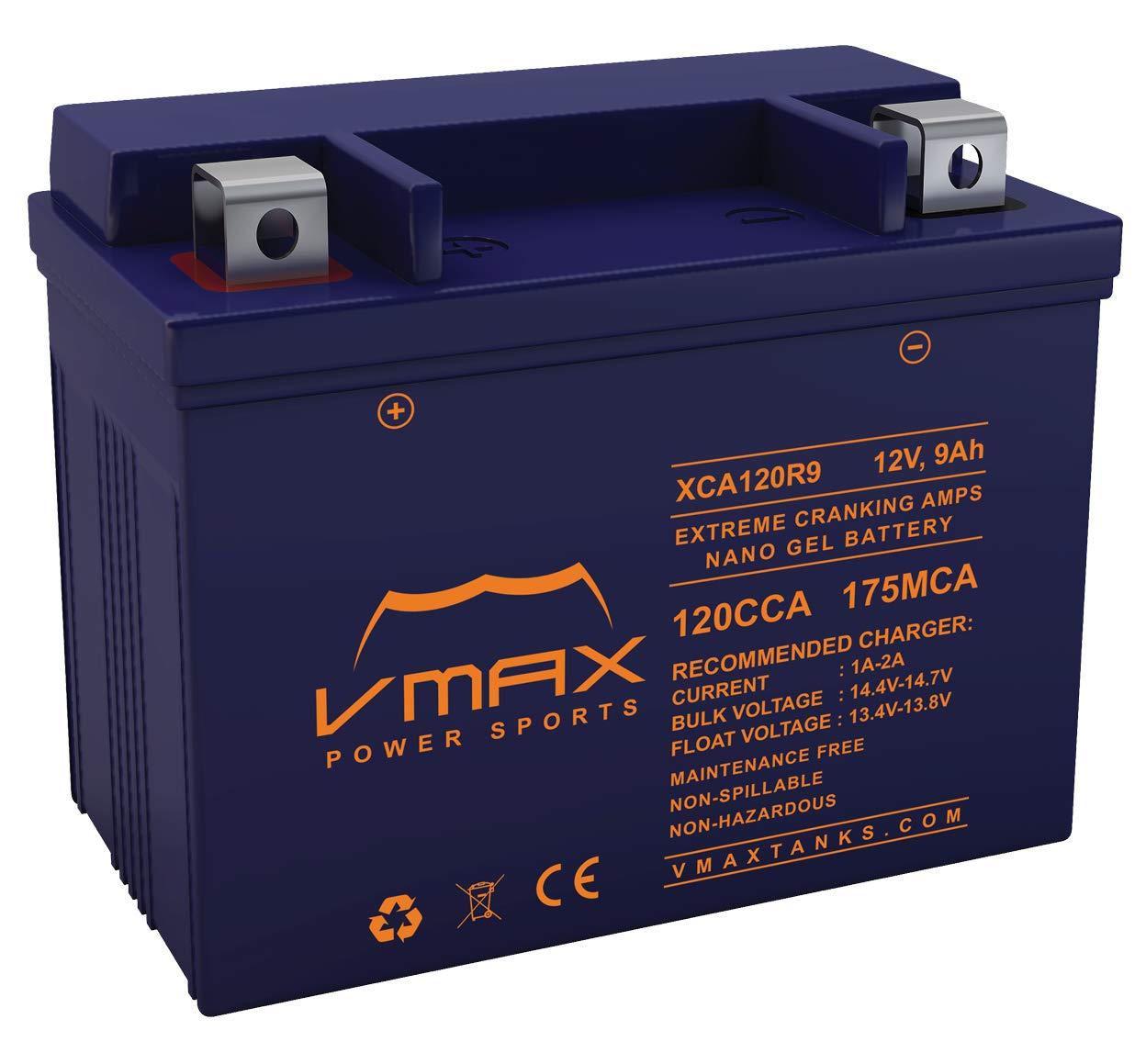 VMAX XCA120R9 - Batería de Repuesto para Motocicleta ...