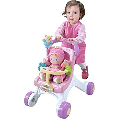 Fisher-Price Brilliant Basics Stroll-Along Walker, Standard Packaging: Toys & Games