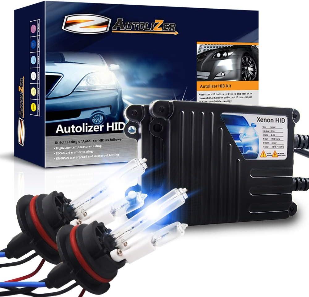 Autolizer 35W Xenon HID Lights - Low HID//Halogen High H4 HB2 9003 10000K Dark Blue