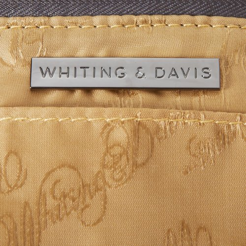 Whiting Convertible Clutch Gunmetal amp; Davis Gold Edge Contrast qZrHZIwA