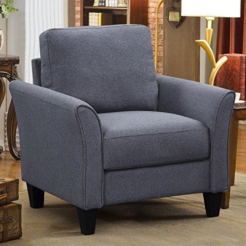 (Harper&Bright Designs PP039582 Living Room Furniture Armrest Single Sofa (Chair), Grey)