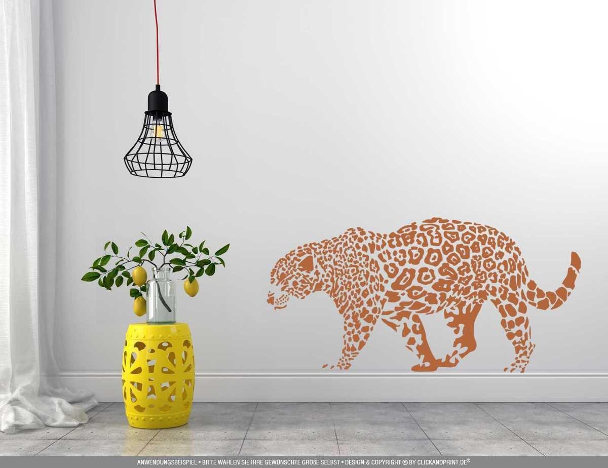 CLICKANDPRINT Aufkleber Aufkleber Aufkleber » Leopard, 150x74,4cm, Türkis • Wandtattoo   Wandaufkleber   Wandsticker   Wanddeko   Vinyl B073X88CLJ Wandtattoos & Wandbilder 7db7c8