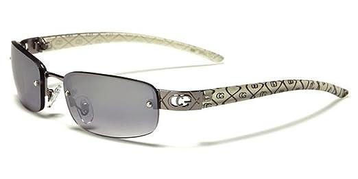 be25344173 New Womens Ladies Designer Wrap Around Rimless Metal UV400 Sunglasses  (Brown)  Amazon.co.uk  Clothing