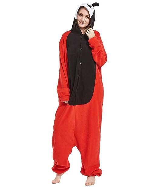 Yimidear Cosplay Ropa de Dormir, Unisex Adulto Pijamas Animales Disfraz Traje de Dormir Kigurumi Onesie