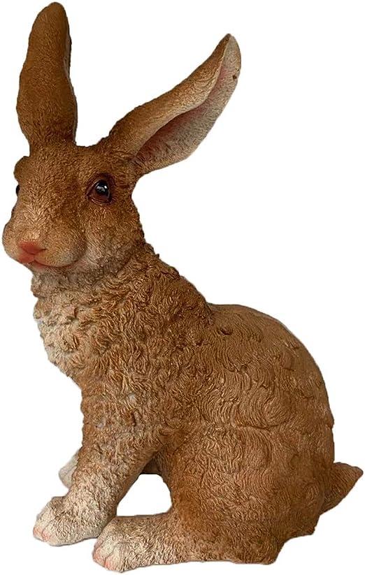 Animali Da Giardino In Plastica.Homedectime Statuetta Coniglietto In Resina Conigli Per Animali Da Giardino Scultura Da Giardino All Aperto Per Interni Accessori Per Giardini Fai Da Te Marrone Amazon It Giardino E Giardinaggio
