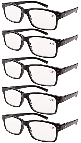 58b0a230ac6 Image Unavailable. Image not available for. Color  Eyekepper 5-Pack Spring  Hinges Vintage Reading Glasses Men Readers ...
