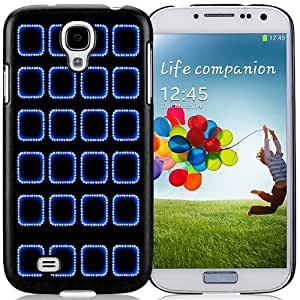 Beautiful Custom Designed Cover Case For Samsung Galaxy S4 I9500 i337 M919 i545 r970 l720 With Blue Dotted App Borders Phone Case Cover