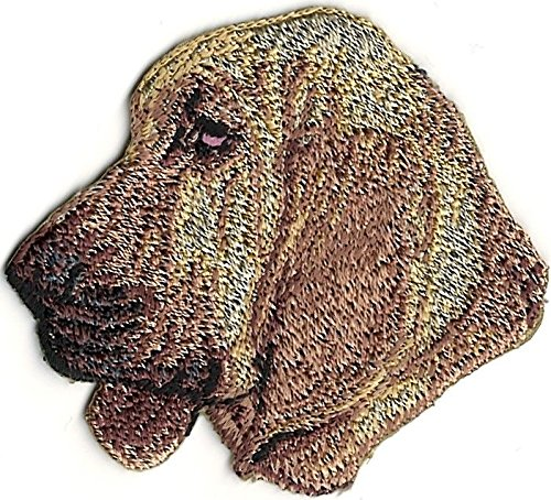 2 1/8x 2 1/4Bloodhound Dog Breed Portrait Left Embroidery Patch ()