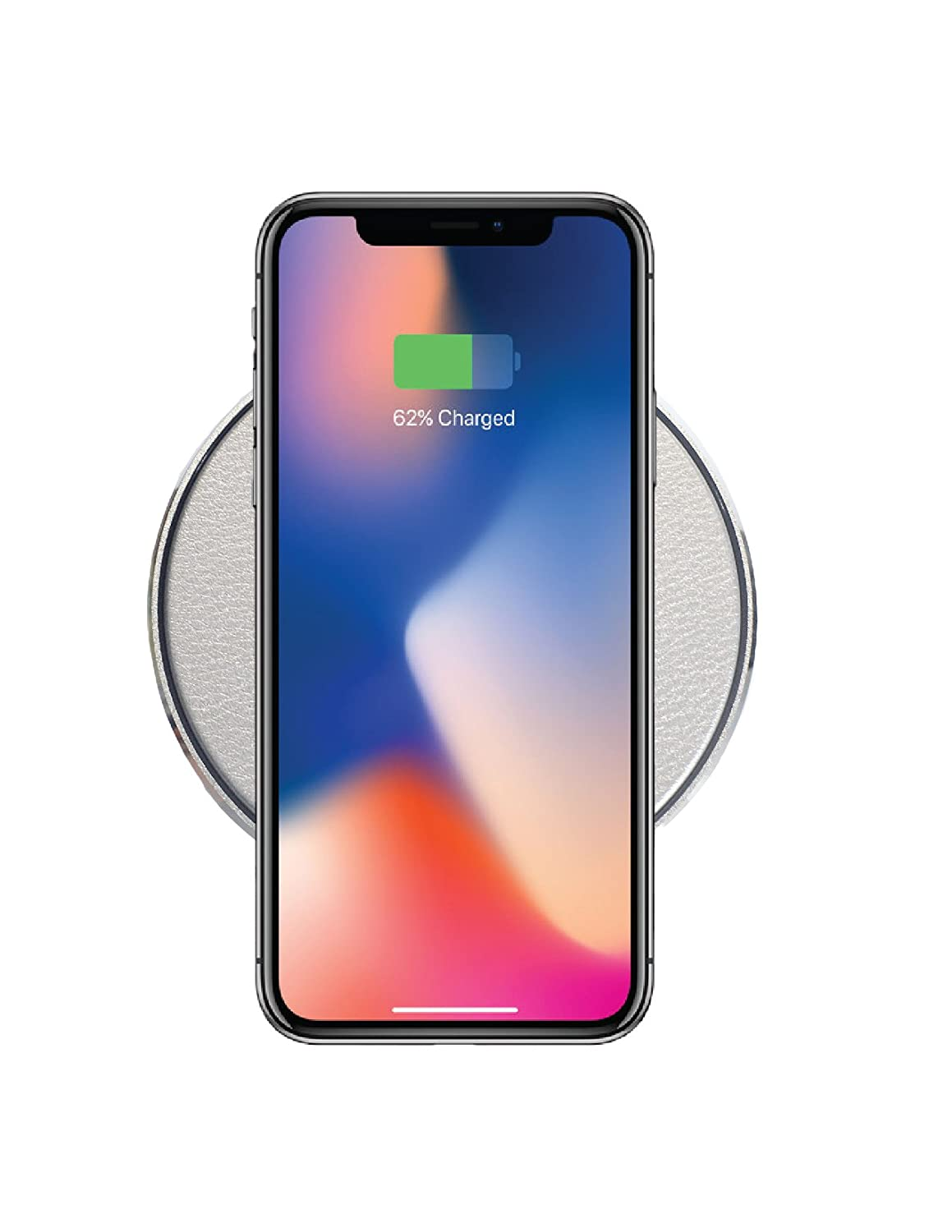 Rapid Wireless Charging Pad for iPhone 8 Plus, Apple iPhone X (10).  GabbaGoods Slim Wireless Charger for Samsung, Qi-Certified Fast Charging  cable Anti-Slip ...