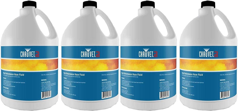 (4) Gallon Bottles Chauvet DJ HFG Fluid for Hurricane Haze 2D Smoke Fog Machine
